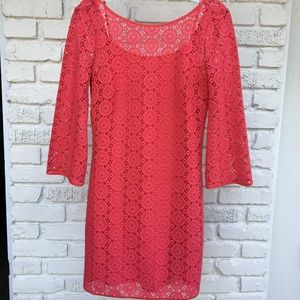 Coral Lilly Pulitzer Lace/Crochet Dress